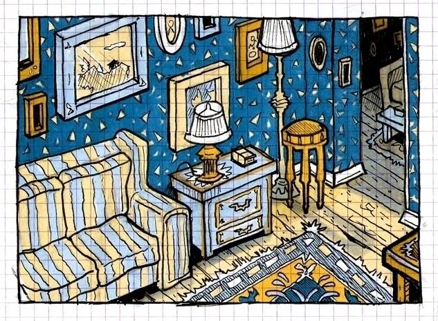 Insignificant Blue Room - graphpaper - danmccool | ello