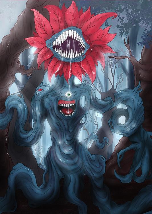 Hamadryad - monster, plants, flowers - sergithedoor | ello