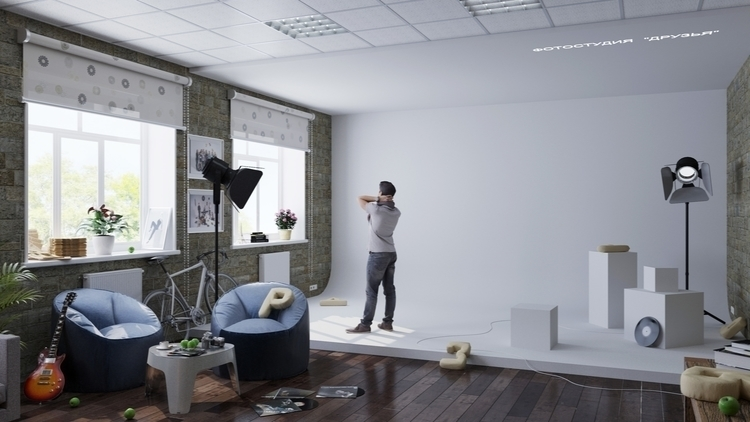 Friends photostudio - 3d, design - eugenechekhov | ello
