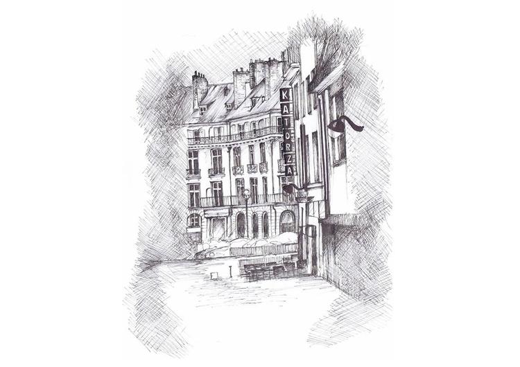 Katorza - Nantes - drawing, micronpen - juliettemary | ello