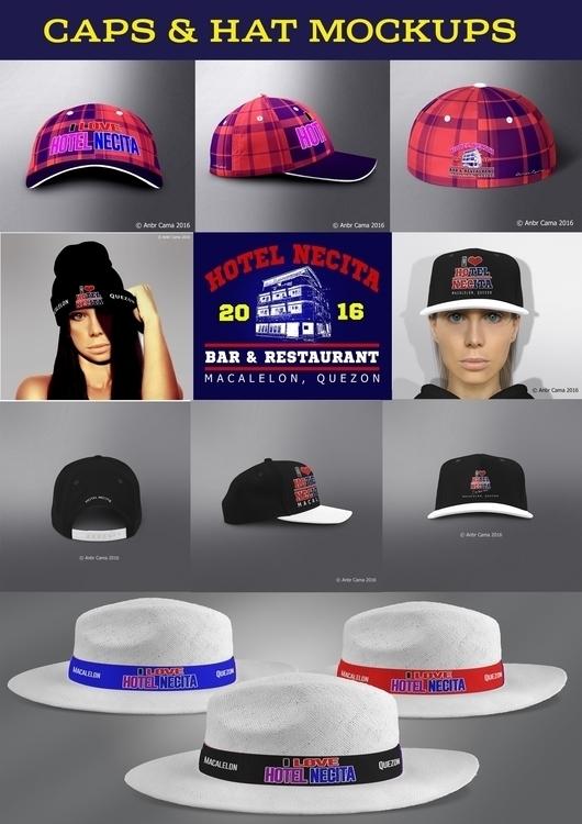 Caps Hats Mockups Hotel Necita - anbrcama-4553   ello