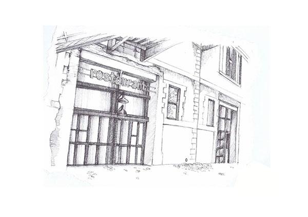 Lieu unique - Nantes - drawing, micronpen - juliettemary | ello