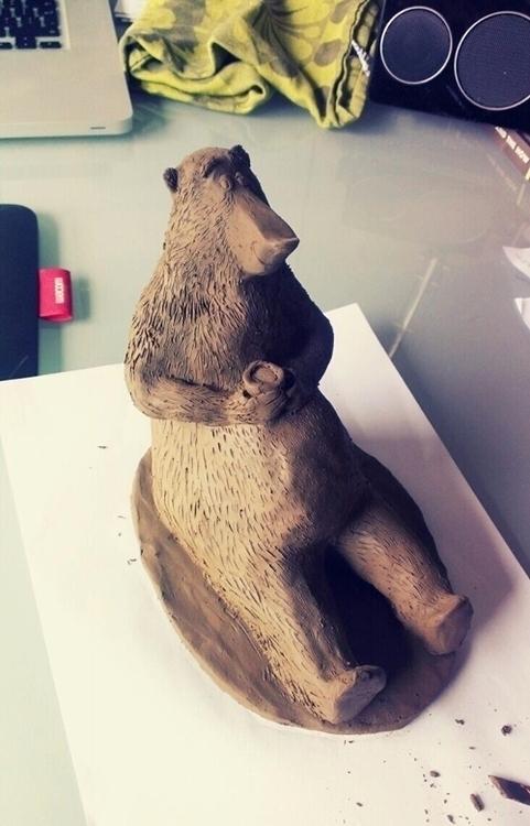 Clay sculpture Bear - clay, characterdesign - kellybreemer | ello