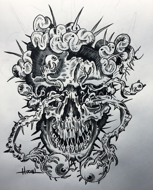 Anxiety - illustration, penandink - matthewhodel | ello