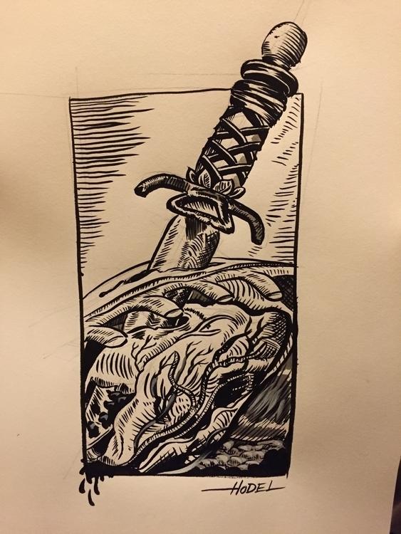 Murder - murder, illustration, drawing - matthewhodel | ello