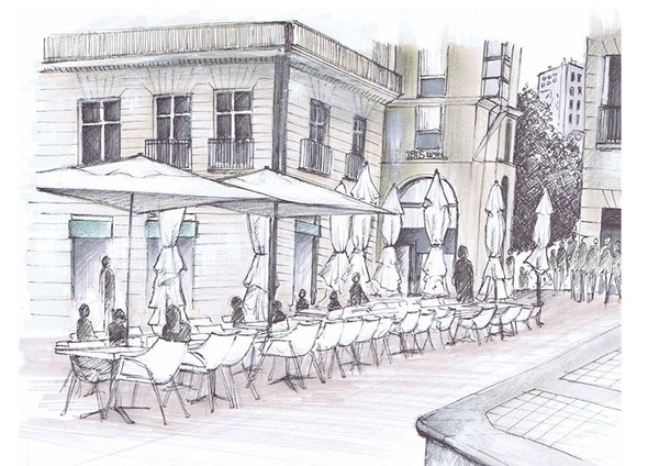 Royale place -Nantes - drawing, promarker - juliettemary | ello