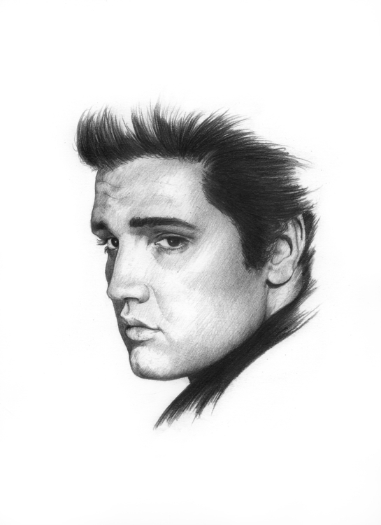 Elvis Presley - king, portrait, illustration - arnaud-1410 | ello