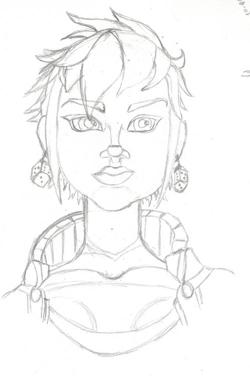 Qora, character sketch - pencil - crysodenkirk | ello