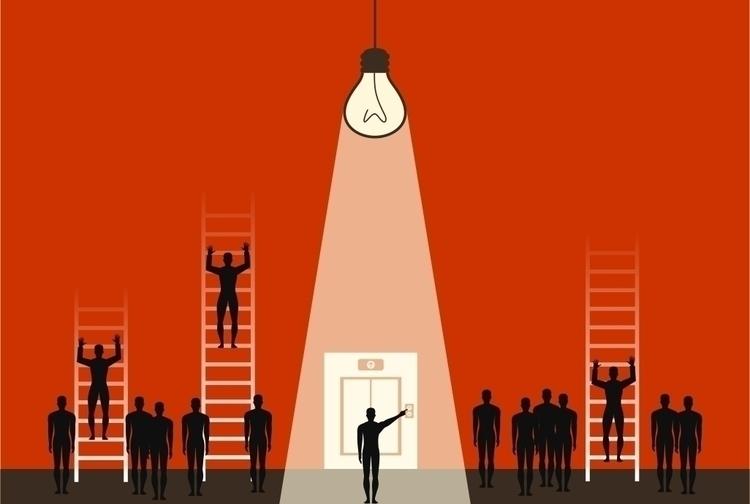 People lift ladders. vector ill - vector30 | ello