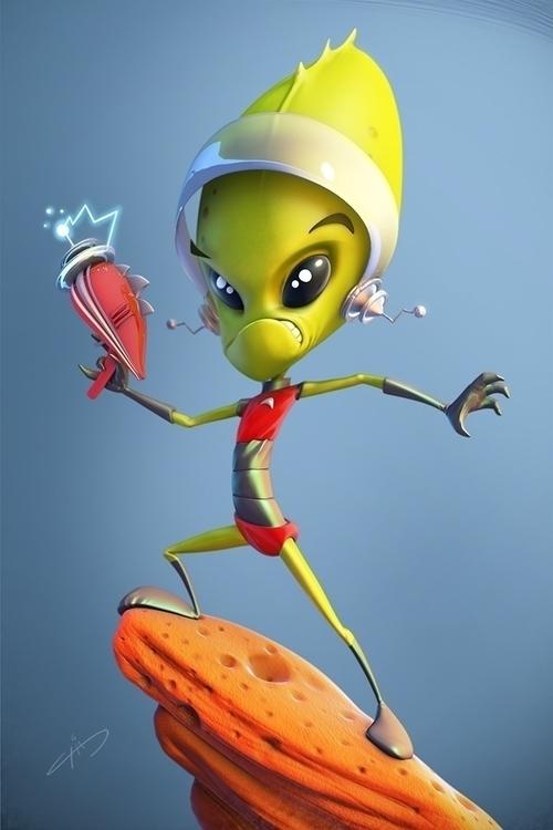 Alien - alien, 3d, character, characterdesign - arizaga-6422 | ello