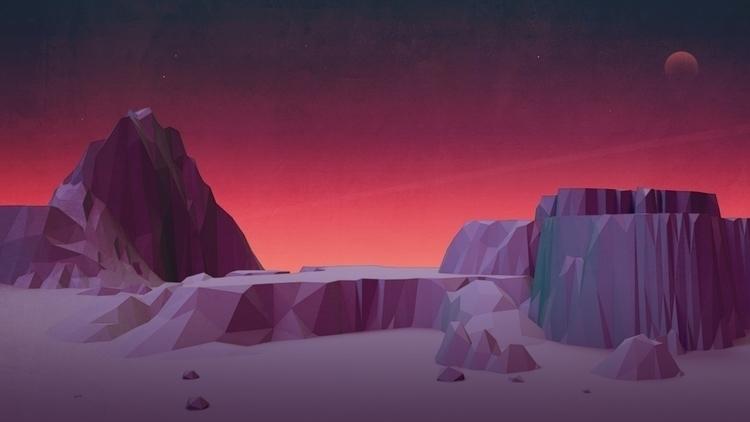 c4d, cinema4d, illustration, landscape - visualhuman   ello