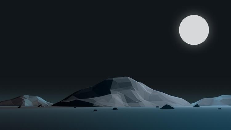 c4d, cinema4d, lowpoly, moon - visualhuman | ello