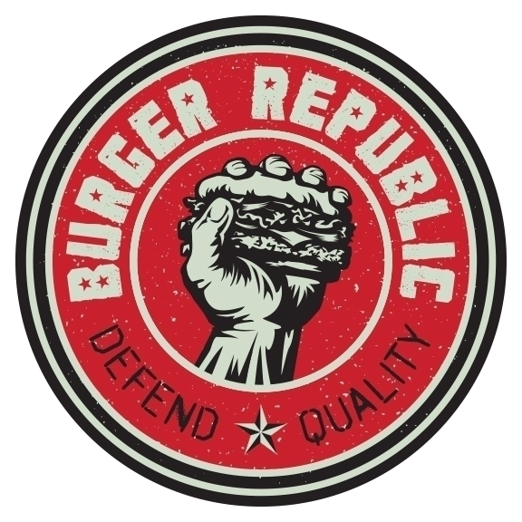 Burger Republic logo - burger, nashville - willshaw-1861 | ello