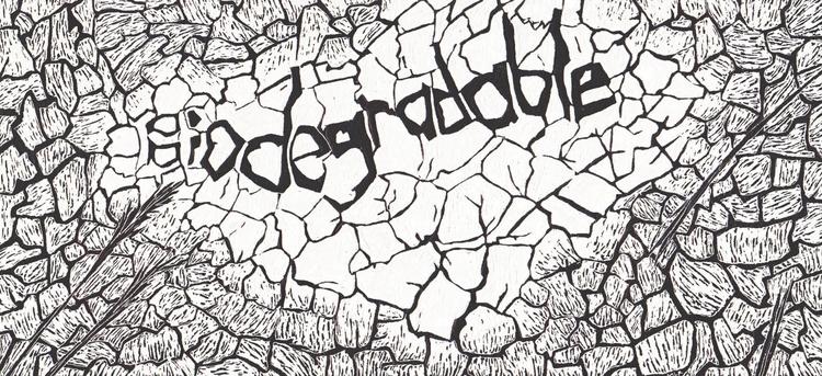 illustration, scraperboard, erosion - marikeleroux | ello