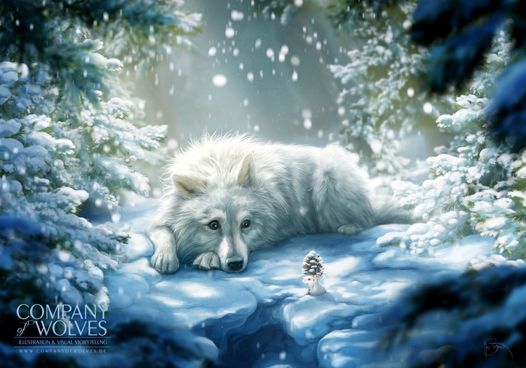 Wolf - wolf, wolves, wintersnow - companyofwolves | ello