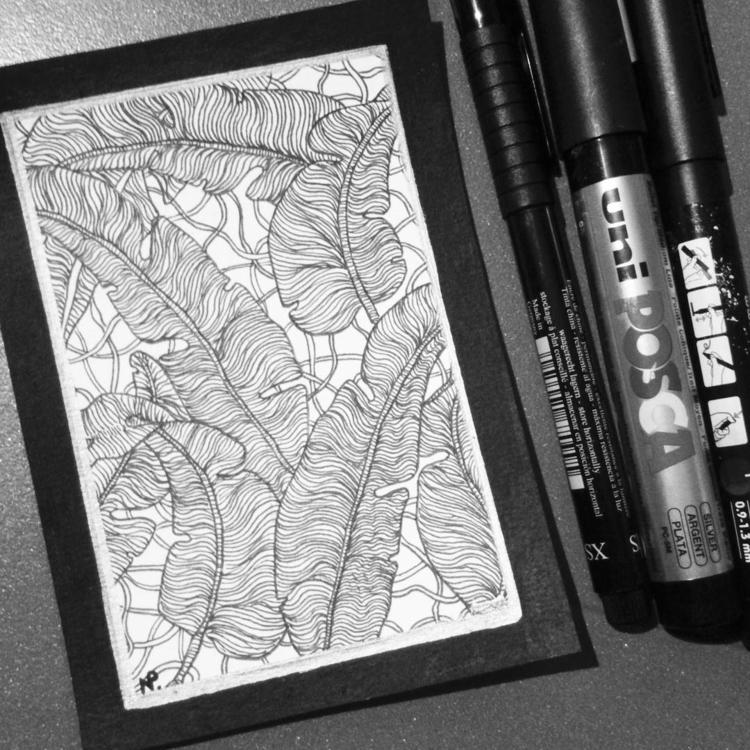 leaves, drawing, illustration - salutnoe | ello
