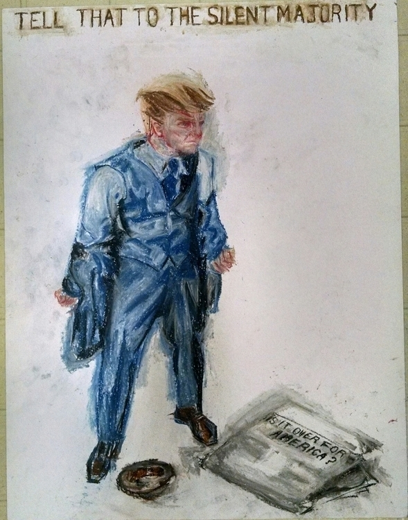Silent Majority - #illustration - droberts-1393 | ello