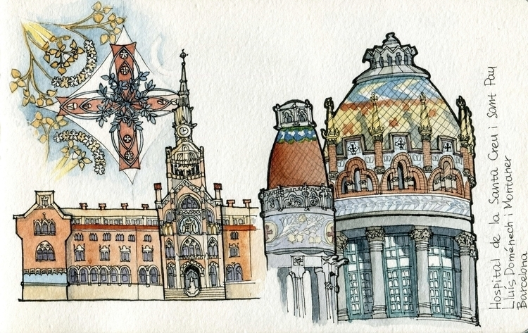 Hospital de Sant Pau - illustration - dasha_sava | ello