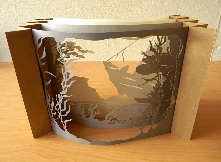 attempt tunnel book. 4 layers,  - linbhu | ello