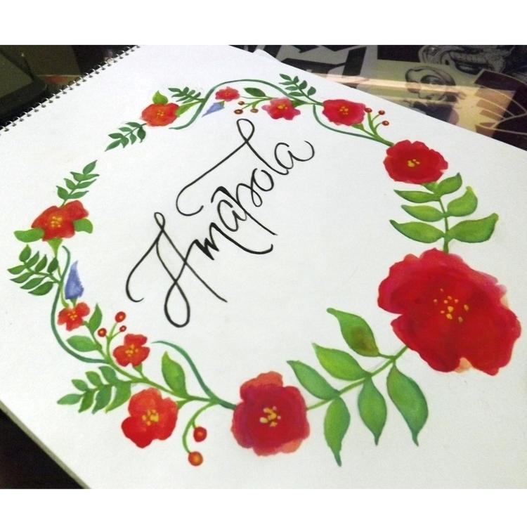 amapola - letters, lettering, calligraphy - astrdmargaritaa | ello