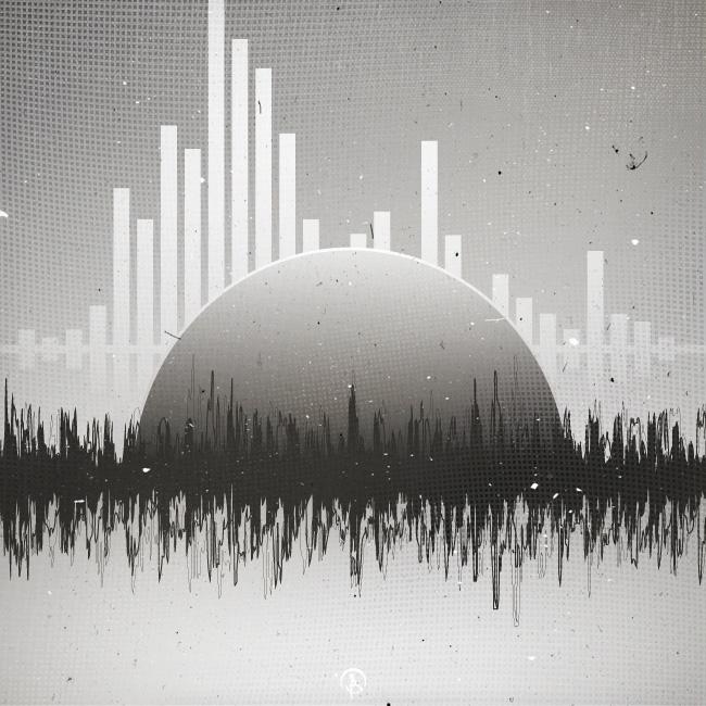 - Sounday - vector, digitalart, blackandwhite - billy20200 | ello