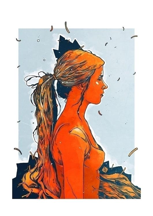 Rapunzel - illustration, print - furkannukabirgun | ello