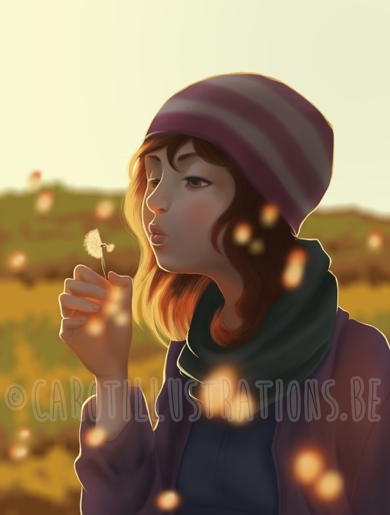 Dandelion - illustration, digitalpainting - carotillustrations | ello
