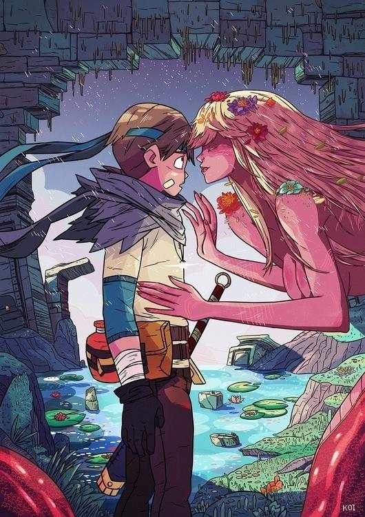 Songs Siren - illustration, art - koi-9979 | ello