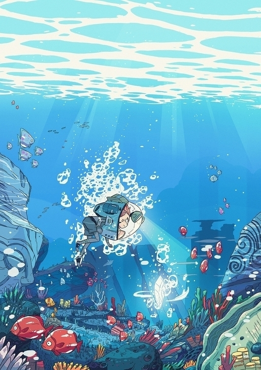 Underwater adventure - illustration - koi-9979 | ello