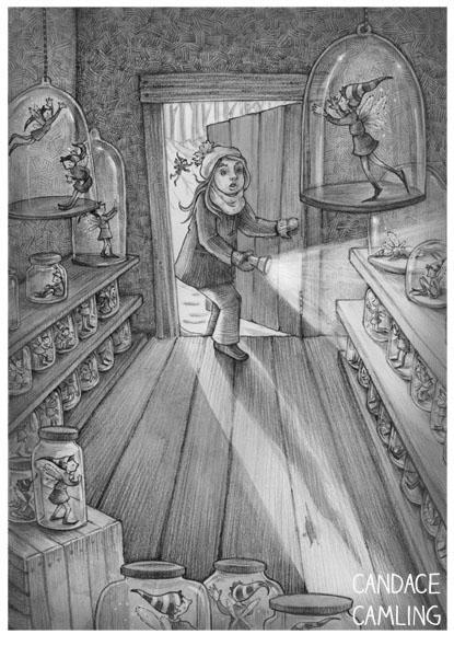 2014 - fairy, jar, blackandwhite - candacecamling | ello
