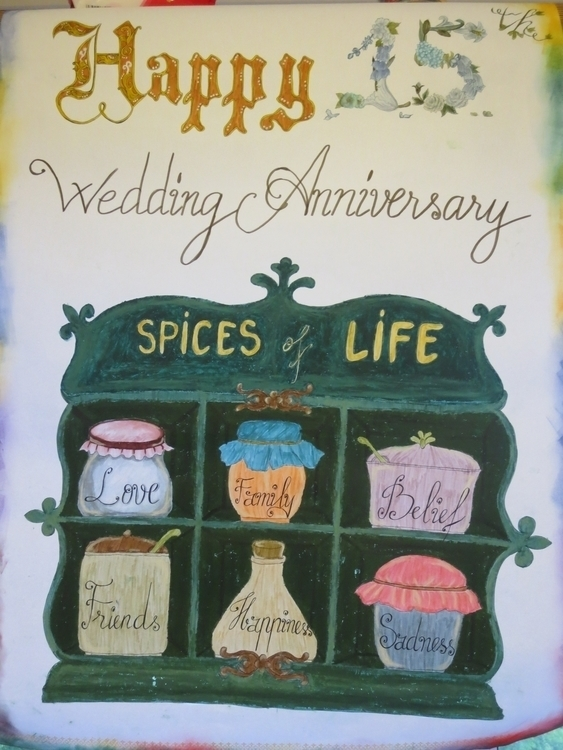 15th Wedding Anniversary - illustration - moonyhang | ello