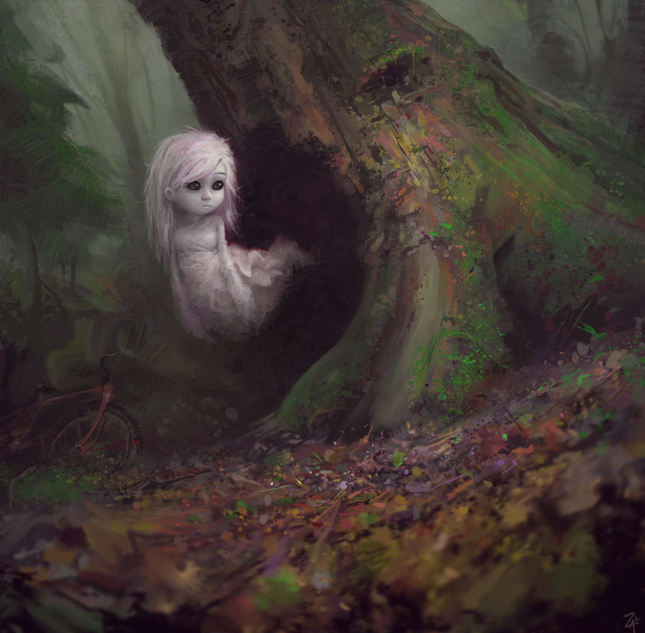 Ghost - ghost, bike, forest - zacretz | ello