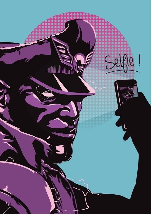 Bison selfie  - bison, streetfighter - jerryleebernard | ello