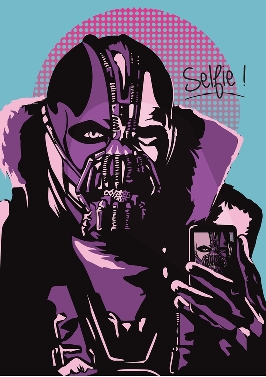 Bane selfie  - bane, batman, villain - jerryleebernard | ello