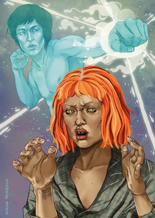 'uhhhh' Leello - illustration, fifthelement - karina-3813 | ello