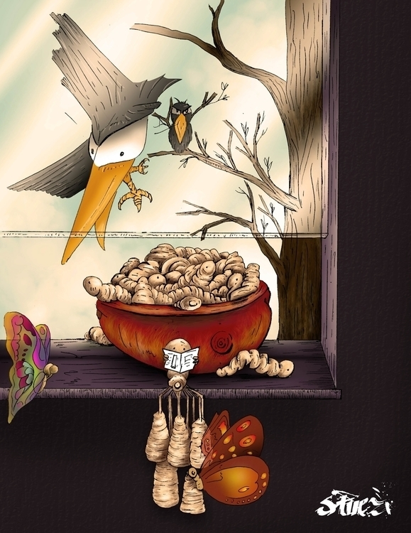 Pay de manzana - illustration, design - stvez   ello