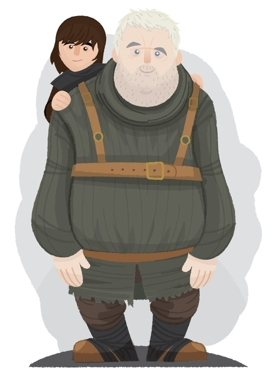 Hodor Bran - illustration, characterdesign - christophermadden | ello
