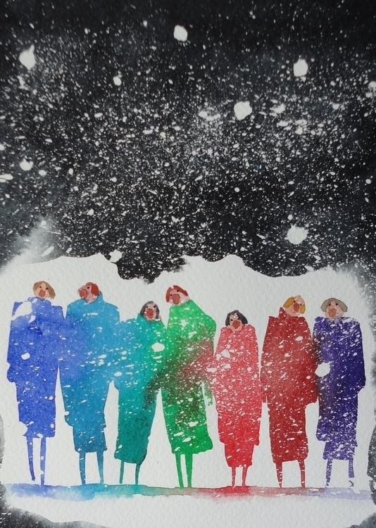 Carol singers II - Christmas, Carolsingers - paulfrance | ello
