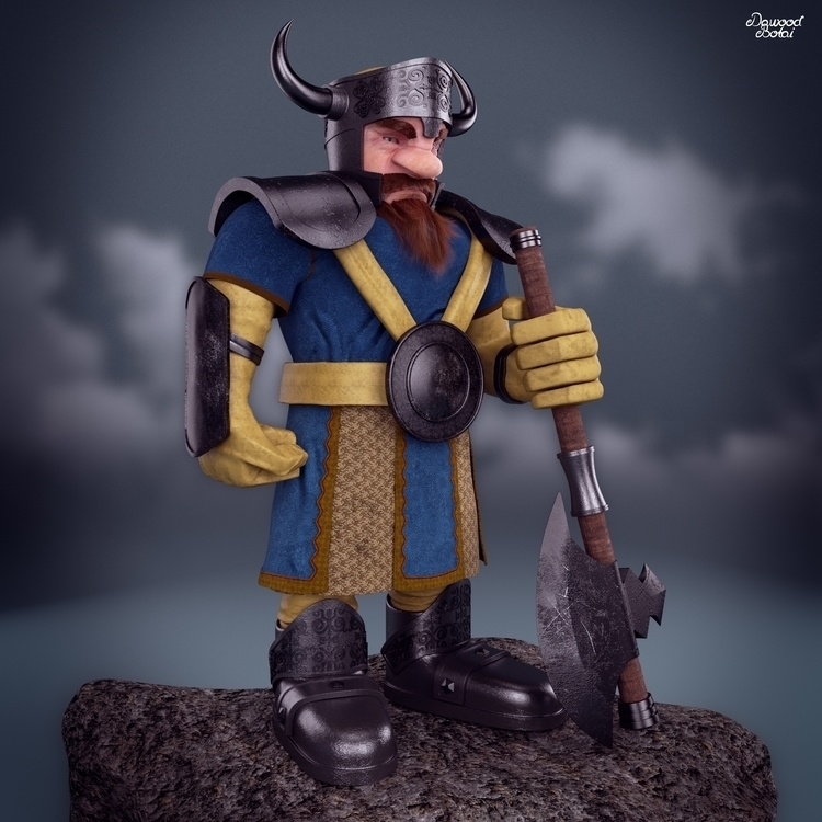 viking dwarf - 3dmax, vray, photoshop - dawood-3963   ello