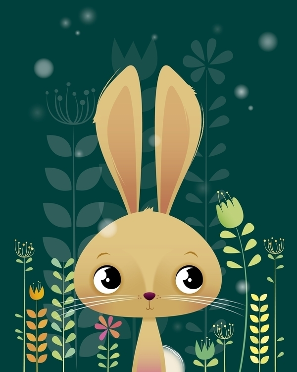 Bunny - illustration, characterdesign - irenegough | ello