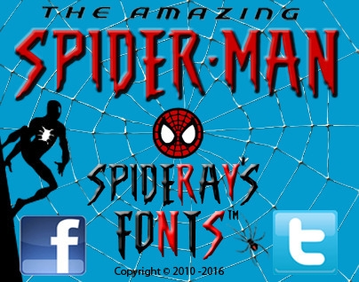 created Spidey font based Spide - spideraysfonts-1396 | ello