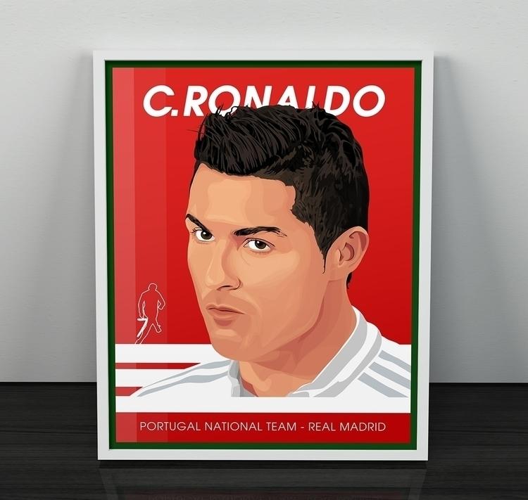 Cristiano Ronaldo - digitalart, illustration - alainldesign | ello