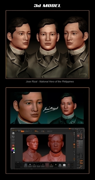 Jose rizal model - 3d - lordyboy-1442 | ello