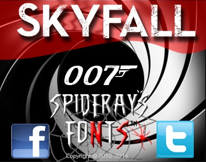Font based James Bond 007 movie - spideraysfonts-1396 | ello