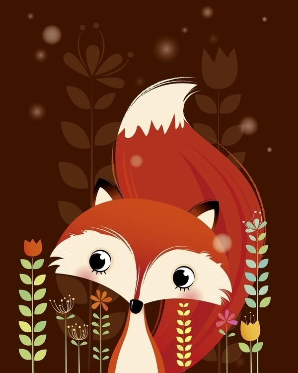Fox - illustration, characterdesign - irenegough | ello