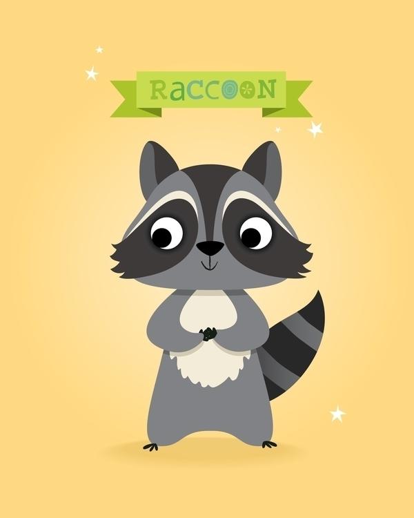 Raccoon - illustration, characterdesign - irenegough | ello
