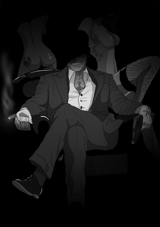 'Bratva - illustration, mangaart - agent23-5248 | ello