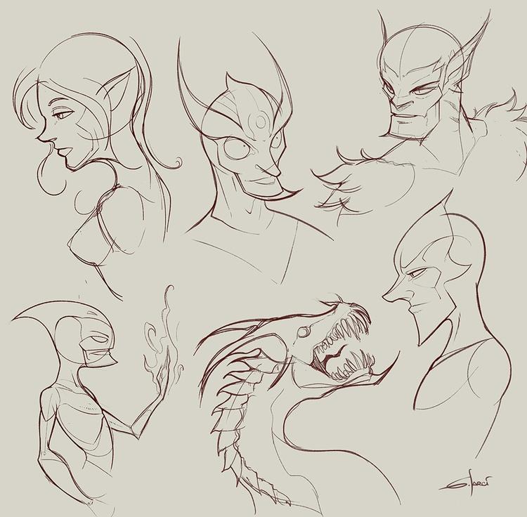 Character sketch - 01, character - sarcix | ello