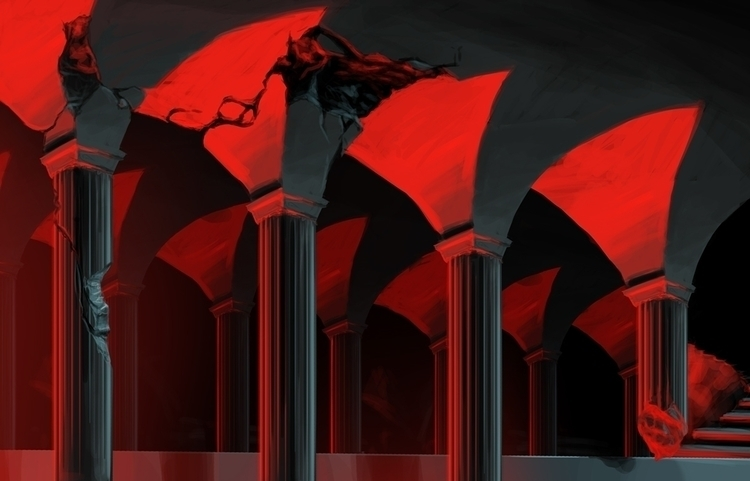 Columns background - digitalpainting - adamlapko | ello