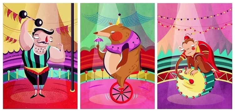 Circus, illustration - marianasaba | ello